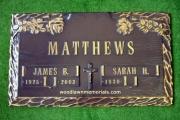 Matthews bronze memorial marker