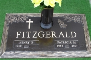 "28"" x 16"" with vase Bronze grave marker - Puritan Lawn Memorial Park Peabody"