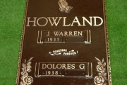 "16"" x 24"" grave marker"