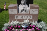 Sculpted Blessed Mother headstone