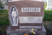 """St. Anthony sculpture in 2"""" niche - Holy Cross Cemetery, Malden, MA"""