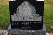 Sculpted St. Anthony & Child memorial for cemetery