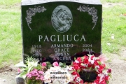 Holy Cross Catholic cemetery double grave plot design