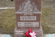 Woodlawn Memorials - Catholic designs - single upright cemetery headstone