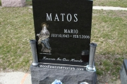 Etched headstone - Holy Cross Cemetery Malden Massachusetts