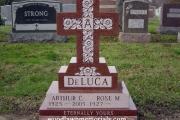 Cross shape single gravestone - Oak Grove Cemetery Medford MA