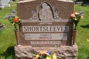 Sandblast Saint on headstone