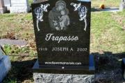 St. Anthony & Child - Black Granite - St. Joseph's Cemetery, Lynn Massachusetts headstone