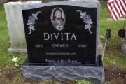 Companion lot grave - etched Jesus - Winthrop Cemetery