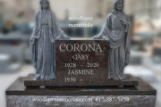 Scuplted Holy Mary and Jesus design- Catholic cemetery monuments