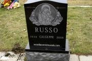 Catholic design in black granite