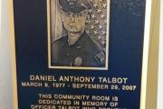 Officer Daniel Talbot Memorial Plaque