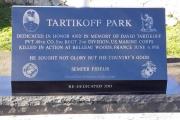 Tartikoff Park monument - Malden MA