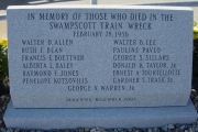 Swampscott Train Wreck monument
