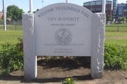glendale park granite sign Everett