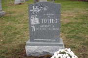 single lot headstone - Annunciation Cemetery, Danvers, MA