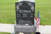 Winthrop Cemetery single grave upright headstone