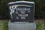 headstone with two family names