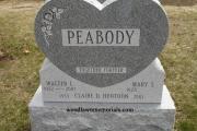 Peabody headstone - Forestdale Cemetery, Malden, MA