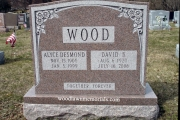 upright headstone for two