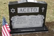 headstone - Woodbrook Cemetery, Woburn, MA