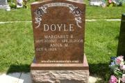 multi-color granite gravestone