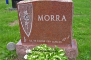 headstone with music notes