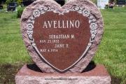 Red Heart Headstone - Peabody, Massachusetts