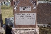 upright headstone - Tewksbury Cemetery, MA