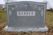 Classic headstone design for 4 people