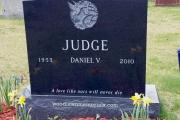 Hummingbird headstone design - St. Joseph's Cemetery West Roxbury