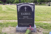 headstone with ivy design
