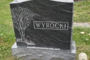 tree design on headstone - Annunciation Cemetery, Danvers, MA