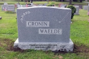 Dark Barre Vermont Grey Granite with two family names erected in Wyoming Cemetery, Melrose, MA
