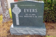 Irish double lot headstone - Evergreen Green Granite