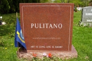 classic headstone in Waterside Cemetery, Marblehead, MA