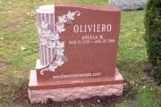 headstone with column on one side