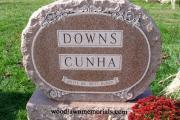double upright headstone - Wildwood Cemetery, Wilmington, MA