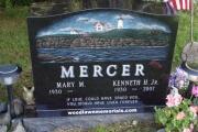 Nubble Lighthouse scene gravestone - Pine Haven Cemetery