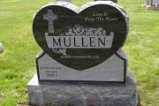 heart shape headstone in Tewksbury, MA