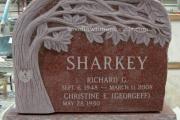 headstone tree carving design - Hamilton, MA