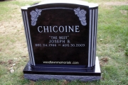headstone in Lakeside Cemetery, Wakefield, MA