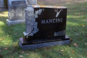 our unique shape gravestone in Lakeside Cemetery, Wakefield, MA