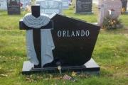 Catholic headstone for cemetery