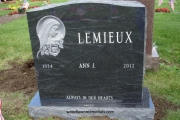 blessed Mother headstone for double lot