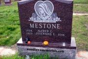 Catholic headstone - Holy Cross Cemetery