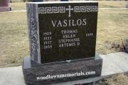 Greek headstone design in Winthrop MA Cemetery