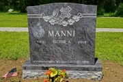 Bahama Blue gravestone design - Wildwood Cemetery