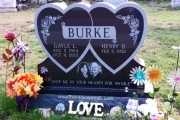 Burke headstone Riverside Cemetery North Reading