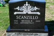 Polished black headstone